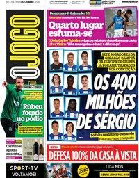 capa Jornal O Jogo de 12 junho 2020