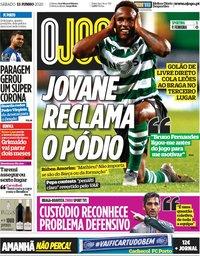 capa Jornal O Jogo de 13 junho 2020
