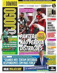 capa Jornal O Jogo de 14 junho 2020