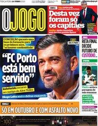 capa Jornal O Jogo de 16 junho 2020
