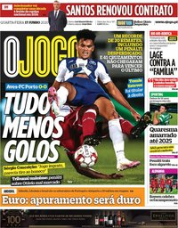 capa Jornal O Jogo de 17 junho 2020