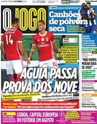 capa Jornal O Jogo de 18 junho 2020