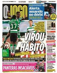 capa Jornal O Jogo de 19 junho 2020