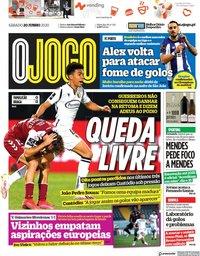 capa Jornal O Jogo de 20 junho 2020