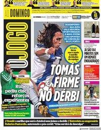capa Jornal O Jogo de 21 junho 2020