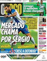 capa Jornal O Jogo de 22 junho 2020