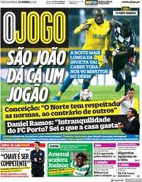 capa Jornal O Jogo de 23 junho 2020