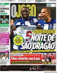 capa Jornal O Jogo de 24 junho 2020