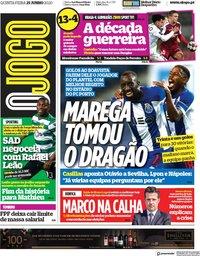 capa Jornal O Jogo de 25 junho 2020