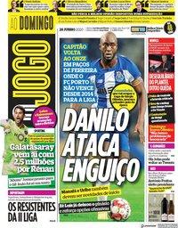capa Jornal O Jogo de 28 junho 2020