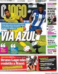 capa Jornal O Jogo de 30 junho 2020