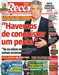 capa Jornal Record de 2 junho 2020