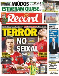 capa Jornal Record de 5 junho 2020