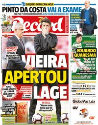 capa Jornal Record de 6 junho 2020