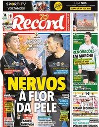 capa Jornal Record de 10 junho 2020