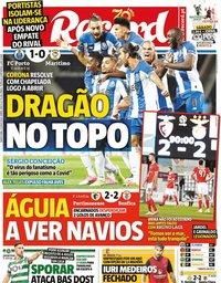 capa Jornal Record de 11 junho 2020