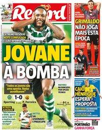 capa Jornal Record de 13 junho 2020