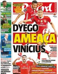 capa Jornal Record de 15 junho 2020