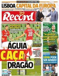 capa Jornal Record de 18 junho 2020