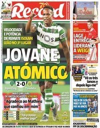 capa Jornal Record de 19 junho 2020