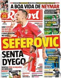 capa Jornal Record de 21 junho 2020