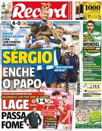 capa Jornal Record de 24 junho 2020