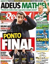 capa Jornal Record de 25 junho 2020