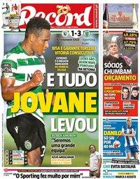 capa Jornal Record de 27 junho 2020