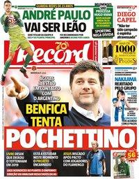 capa Jornal Record de 28 junho 2020