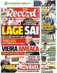 capa Jornal Record de 30 junho 2020