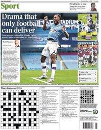 capa Jornal Times Sport de 19 junho 2020