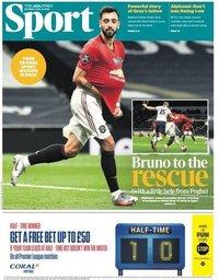 capa Jornal Times Sport de 20 junho 2020