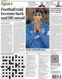 capa Jornal Times Sport de 28 junho 2020