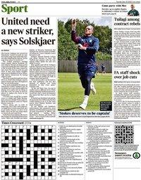 capa Jornal Times Sport de 30 junho 2020