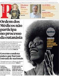 capa Público de 19 junho 2020