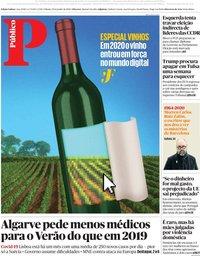 capa Público de 20 junho 2020