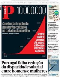 capa Público de 29 junho 2020
