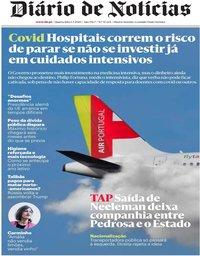 capa Diário de Notícias de 1 julho 2020