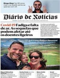 capa Diário de Notícias de 7 julho 2020