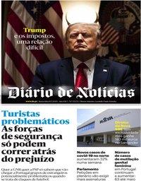 capa Diário de Notícias de 10 julho 2020