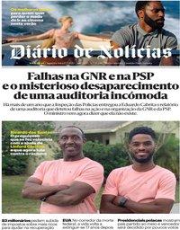 capa Diário de Notícias de 13 julho 2020