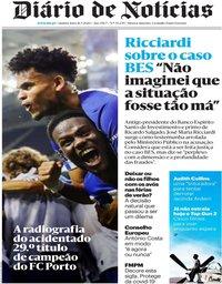 capa Diário de Notícias de 16 julho 2020