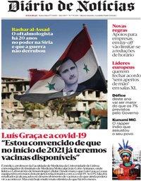 capa Diário de Notícias de 17 julho 2020