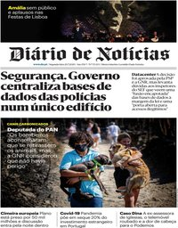 capa Diário de Notícias de 20 julho 2020