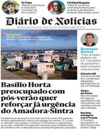 capa Diário de Notícias de 22 julho 2020