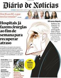 capa Diário de Notícias de 25 julho 2020
