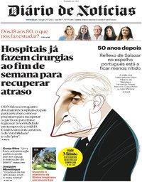 capa Diário de Notícias de 26 julho 2020