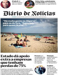 capa Diário de Notícias de 28 julho 2020