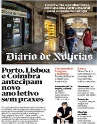 capa Diário de Notícias de 29 julho 2020
