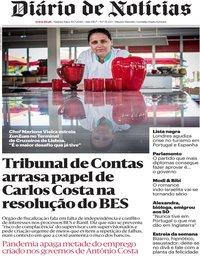 capa Diário de Notícias de 30 julho 2020